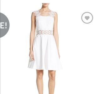 Ted Baker Monaa Lace Trimmed Dress 0